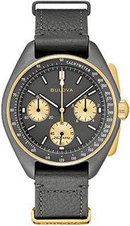 Японские наручные мужские часы Bulova 98A285. Коллекция Lunar Pilot Chronograph