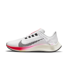 Женские удобные кроссовки для бега по шоссе Nike Air Zoom Pegasus 38 FlyEase - Белый