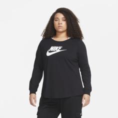 Женская футболка Nike Sportswear Essential (большие размеры) - Черный
