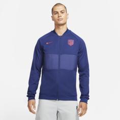 Мужская футбольная куртка с молнией во всю длину Atlético Madrid - Синий Nike