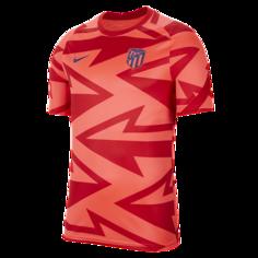 Мужская предматчевая игровая футболка с коротким рукавом Atlético Madrid - Красный Nike