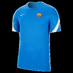 Мужская игровая футболка с коротким рукавом FC Barcelona Strike - Синий Nike