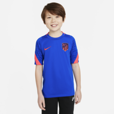 Игровая футболка с коротким рукавом для школьников Nike Dri-FIT Atlético Madrid Strike - Синий