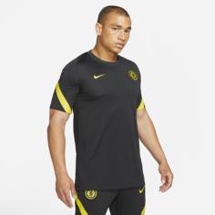 Мужская игровая футболка с коротким рукавом Nike Dri-FIT Chelsea FC Strike - Черный