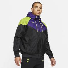Мужская футбольная куртка с капюшоном Tottenham Hotspur Windrunner - Черный Nike