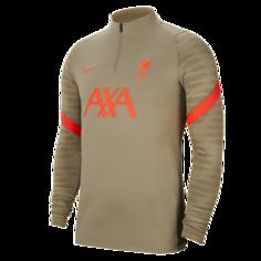 Мужская футболка для футбольного тренинга Liverpool FC Strike - Зеленый Nike