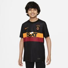 Игровая футболка с коротким рукавом для школьников Nike Dri-FIT из выездной формы ФК «Галатасарай» - Черный