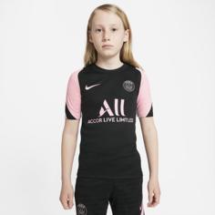 Игровая футболка с коротким рукавом для школьников Nike Dri-FIT Paris Saint-Germain Strike Away - Черный
