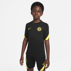 Игровая футболка с коротким рукавом для школьников Nike Dri-FIT Chelsea FC Strike - Черный