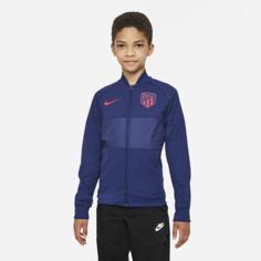 Футбольная куртка для школьников с молнией во всю длину Atlético Madrid - Синий Nike