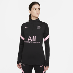 Женская футболка для футбольного тренинга Nike Dri-FIT Paris Saint-Germain Strike Away - Черный