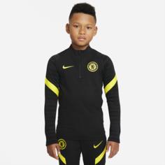 Футболка для футбольного тренинга для школьников Nike Dri-FIT Chelsea FC Strike - Черный