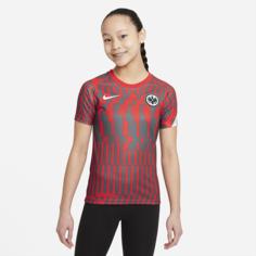 Предматчевая игровая футболка с коротким рукавом для школьников Eintracht Frankfurt - Красный Nike