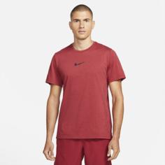 Мужская футболка с коротким рукавом Nike Pro Dri-FIT Burnout - Красный