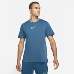 Мужская футболка с коротким рукавом Nike Pro Dri-FIT Burnout - Синий
