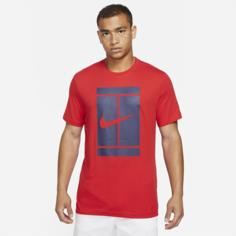 Мужская теннисная футболка NikeCourt - Красный