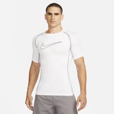 Мужская футболка с плотной посадкой и коротким рукавом Nike Pro Dri-FIT - Белый