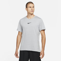 Мужская футболка с коротким рукавом Nike Pro Dri-FIT Burnout - Серый