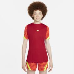 Женская игровая футболка с коротким рукавом Nike Dri-FIT Strike - Красный