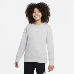 Толстовка для девочек школьного возраста Nike Sportswear Club Fleece - Серый