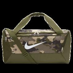 Сумка-дафл для тренинга с камуфляжным принтом Nike Brasilia (маленький размер) - Коричневый