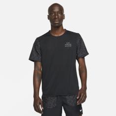 Мужская беговая футболка с коротким рукавом Nike Dri-FIT Rise 365 Run Division - Черный