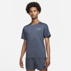 Мужская беговая футболка с коротким рукавом Nike Dri-FIT Rise 365 Run Division - Синий