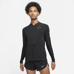 Мужская беговая футболка Nike Dri-FIT Run Division - Черный