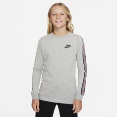 Футболка с длинным рукавом для школьников Nike Sportswear - Серый