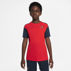 Игровая футболка с коротким рукавом для школьников Nike Dri-FIT CR7 - Красный