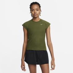 Женская теннисная футболка с коротким рукавом Serena Design Crew - Зеленый Nike