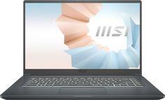 """Ноутбук MSI Modern 15 A11SBL-461RU 9S7-155226-461 i7-1165G7/16GB/512GB SSD/noODD/15.6"""" FHD/IPS/GeForce MX450 2GB/WiFi/BT/Win10Home/carbon grey"""