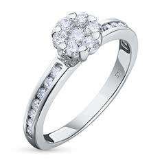 Кольцо из золота с бриллиантами э0901кц10184800 ЭПЛ Якутские Бриллианты