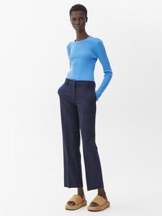 Укороченные брюки из смесовой шерстяной ткани Arket