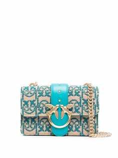 Pinko жаккардовая сумка на плечо с логотипом