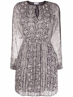 LIU JO платье мини с длинными рукавами и змеиным принтом