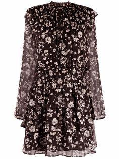 LIU JO платье с длинными рукавами и цветочным принтом