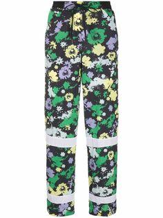 adidas спортивные брюки с цветочным принтом