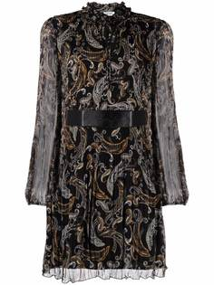 LIU JO платье с оборками и принтом пейсли