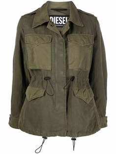 Diesel куртка с карманами карго и кулиской