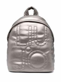 LIU JO рюкзак с эффектом металлик и логотипом