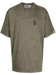 A BATHING APE® футболка Camo Washed с логотипом Bape