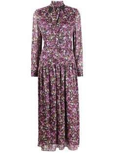 LIU JO платье с бантом и цветочным принтом