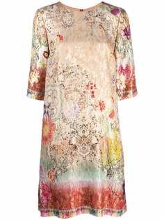 ETRO платье-трапеция с жаккардовым цветочным узором