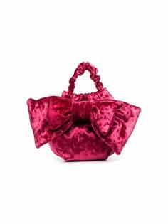 Simonetta бархатная сумка с бантом