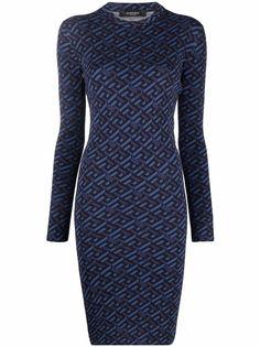 Versace платье с монограммой