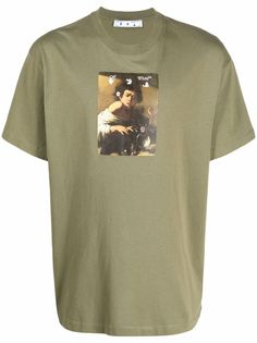 Off-White футболка с принтом Caravaggio Boy