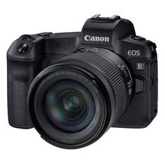 Фотоаппарат Canon EOS R kit ( RF 24-105 mm F4-7.1 IS STM), черный [3075c033]