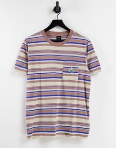 Светло-бежевая трикотажная футболка с карманом HUF Stratford-Светло-бежевый цвет