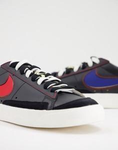 Низкие кроссовки черного цвета Nike Blazer 77-Черный цвет
